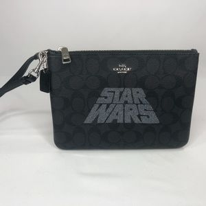 Coach Signature STAR WARS Gallery Pouch Wristlet